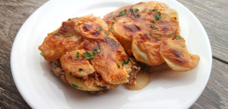 Гратен из картофеля с мясом