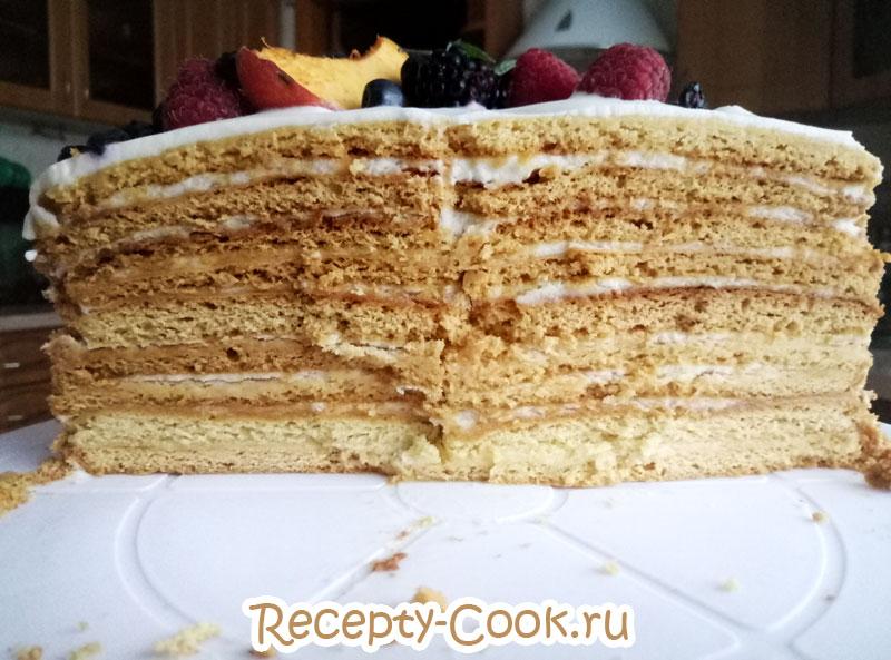медовик торт классический пошагово