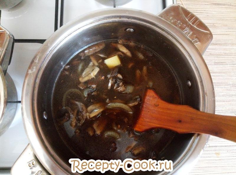 крем суп из лесных грибов со сливками