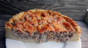 Картофельный пирог с мясной начинкой