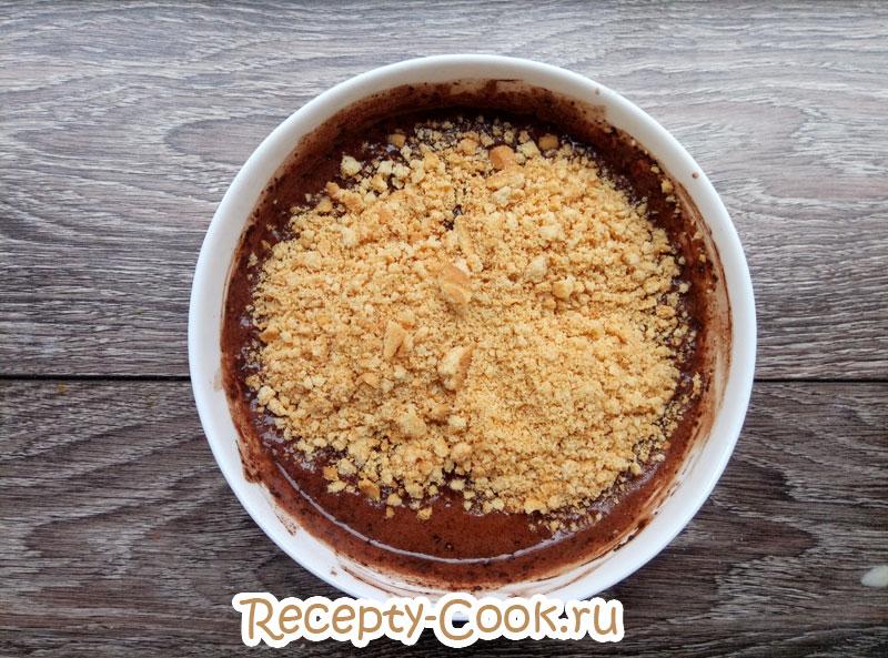 шоколадная колбаса из печенья рецепт