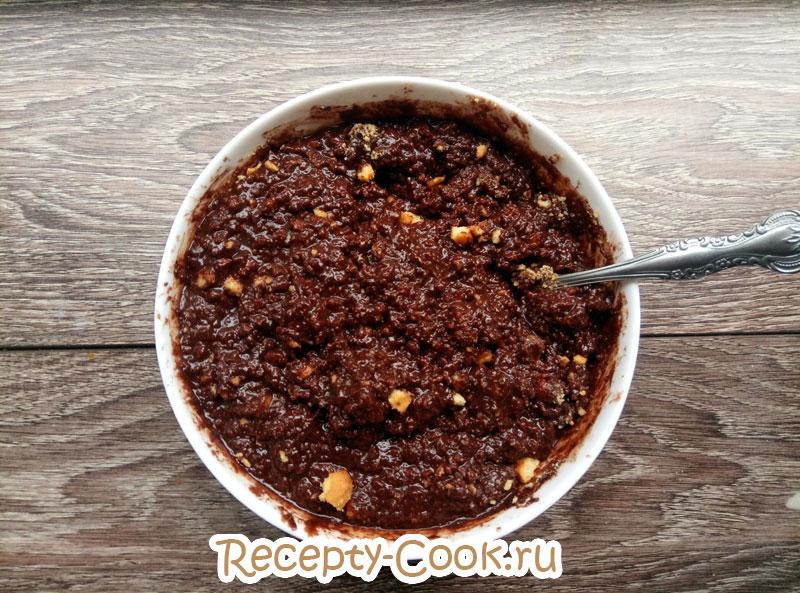 шоколадная колбаса из печенья пошаговый