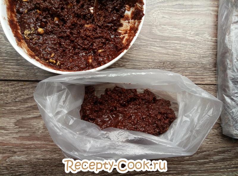 шоколадная колбаса пошаговый рецепт