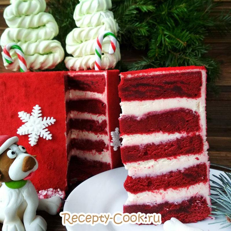 торт красный бархат пошагово